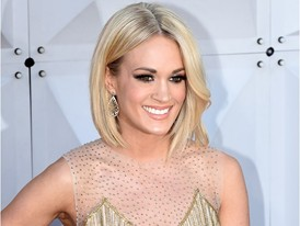 Country Music Megastar Carrie Underwood Walks the Red Carpet for the ACM Awards