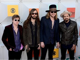 A Thousand Horses (The Band, Not Actual Horses) Walk the Red Carpet at the ACM Awards in Las Vegas