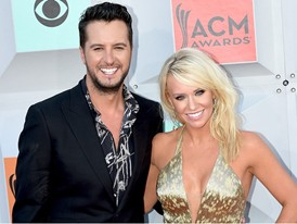 Luke Bryan, Host of this Year's ACM Awards, Walks the Red Carpet in Las Vegas