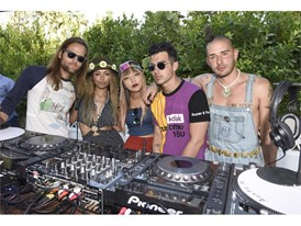 DNCE and Kat Graham at the #WHHSH Las Vegas Party in Palm Springs
