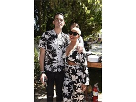 G-Eazy and Amber Rose at the #WHHSH Las Vegas Party in Palm Springs