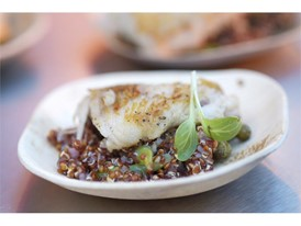 Vegas Uncork'd: Pan roasted skate wing with quinoa salad from RM Seafood