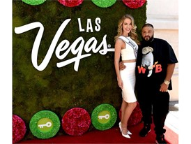 DJ Khaled with Miss USA Olivia Jordan