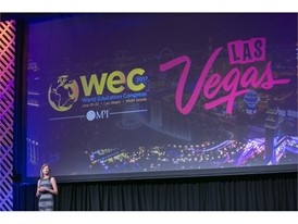 LVCVA Senior Director of Business Sales Amy Riley Delivers Welcome Remarks at MPI WEC 2016