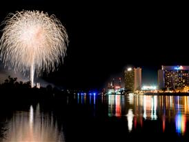 Rockets Over the River in Laughlin