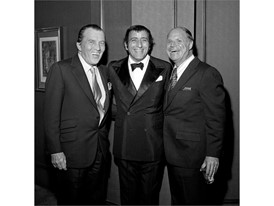 Ed Sullivan, Tony Bennett and Don Rickles at the Riviera