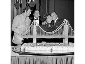 Robert Goulet, Tony Bennett, Totie Fields and Don Rickles at the Riviera
