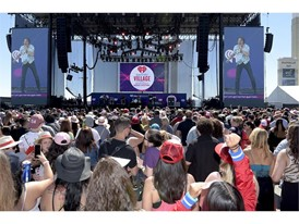 iHeart Daytime Village stage with Cage with Elephant