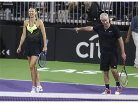 Maria Sharapova and John McEnroe