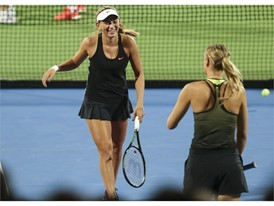 Taylor Johnson and Maria Sharapova