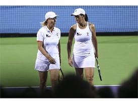 Martina Navratilova and Libel Huber