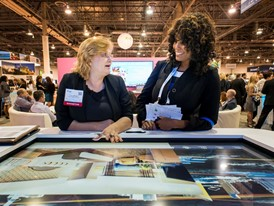Trade show attendees experience new technology