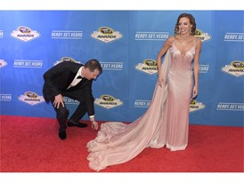 Kyle Busch fixes his wife Samantha Busch's train