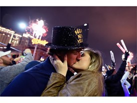 New Year's Eve kiss