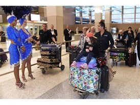Flight DE2070 Arrives at McCarran International Airport