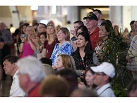 Audience members enjoy musical performances