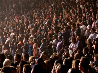 Aerosmith fans pack the MGM Grand Garden Arena
