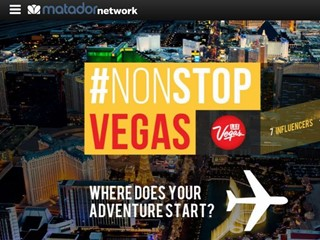 Las Vegas and Matador Network Dispatch Global Digital Influencers for a #NonStopVegas Ride