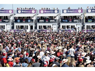 Crowds at iHeart Daytime Village