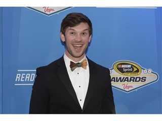 Driver Daniel Suarez arrives on the red carpet for the annual NASCAR Sprint Cup Series Awards