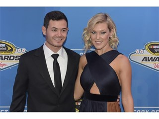 Driver Kyle Larson and his girlfriend Katelynn Sweet arrive on the red carpet for the annual NASCAR Sprint Cup Series Aw