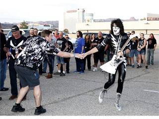 Fans prepare for Kiss concert