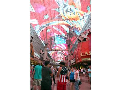 Fremont Street Experience Fourth of July