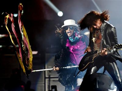 Steven Tyler and Joe Perry of Aerosmith