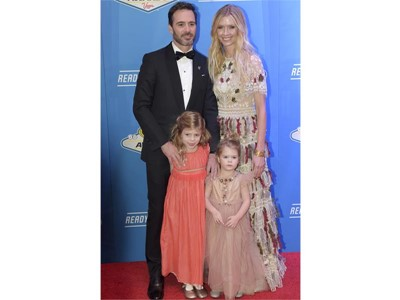 NASCAR Sprint Cup Series Champion Jimmie Johnson and family