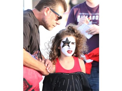 A fan at the Kiss concert