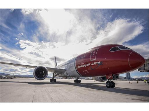 Norwegian Air arrives in Las Vegas