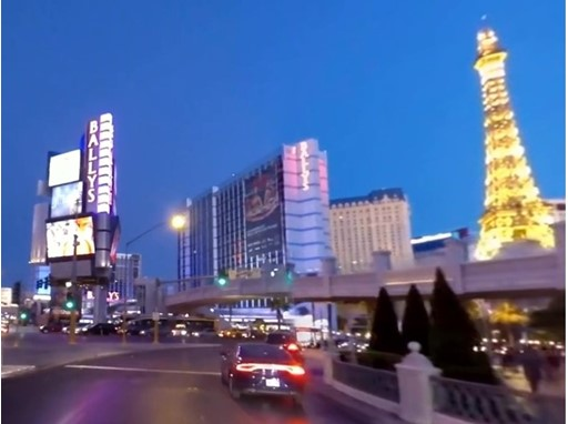 Image of the Las Vegas Strip from 360-Video