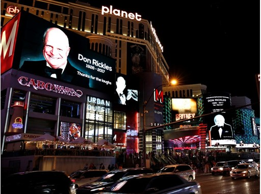 Don Rickles Marquee Tribute - Planet Hollywood Resort & Casino and Miracle Miles Shops
