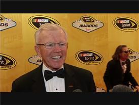 Joe Gibbs Triumphantly Walks the NASCAR Red Carpet in Las Vegas