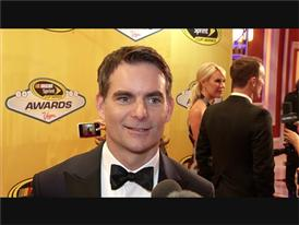 Jeff Gordon Walks Off Into the Sunset at the NASCAR Red Carpet in Las Vegas