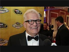 Come On Down! An Excited Drew Carey Walks the NASCAR Red Carpet in Las Vegas