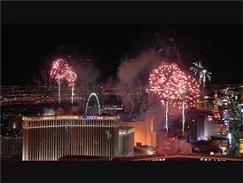 2016 Begins in Las Vegas with a Fireworks Show on the Las Vegas Strip
