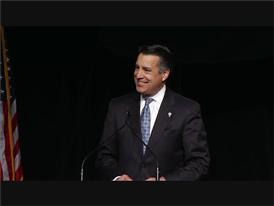 Nevada Governor Brian Sandoval Celebrates UNLV Hosting a Presidential Debate in October.