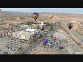 Hot Air Balloons Fill the Skies over Beautiful Mesquite Nevada