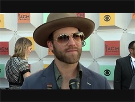 Country Artist Drake White Walks the Red Carpet at the ACM's in Las Vegas