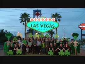 Las Vegas Sign Goes Green