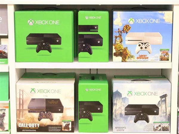 Xbox One Holiday Bundles on Store Shelf B-roll