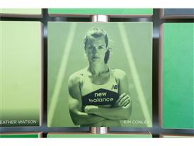 New Balance Global Headquarters Interactive Flip Athlete Board, Kim Conley