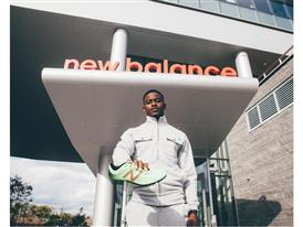 Team New Balance Athlete Trayvon Bromell at New Balance Global Headquarters
