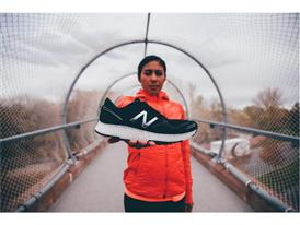 Team New Balance Athlete Brenda Martinez with the New Balance 3D Printed Shoe