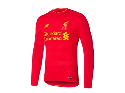 New Balance Reveals Liverpool FC 2016/17 Home Kit - Long Sleeve