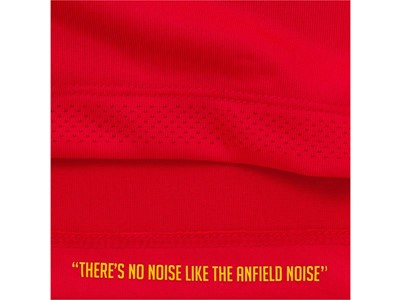 "New Balance Reveals Liverpool FC 2016/17 Home Kit - Detail Shot ""There's No Noise Like The Anfield Noise"""