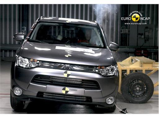 Mitsubishi Outlander Side crash test 2012