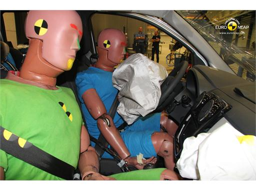 Dacia Lodgy Frontal crash test 2012 - Driver