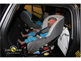 Mitsubishi ASX – Child Rear Seat crash test